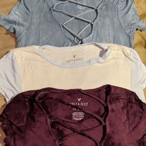 American Eagle Outfitters Tops - 3 American Eagle shirts